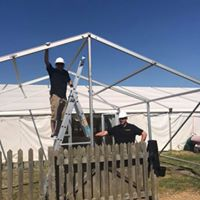 Add on to large marquee at Belvoir castle