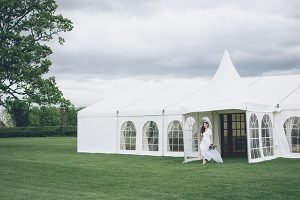 Vintage chic styling out side marquee